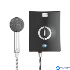 Black electric shower