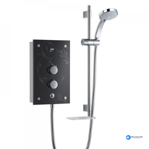 Black electric shower