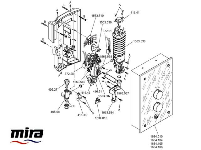 mira galena 9.8kw electric shower assembly instructions