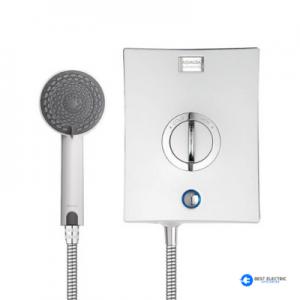 chrome electric shower